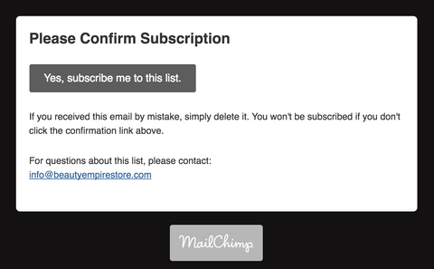 Submit Confirmation Button