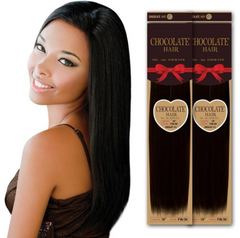 Ever Beauty Inc  CHOCOLATE HAIR 100% YAKY HUMAN HAIR