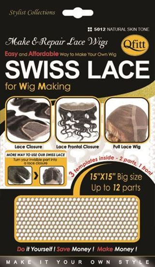 Qfitt Swiss Lace For Wig Making - 5012 Natural Skin Tone