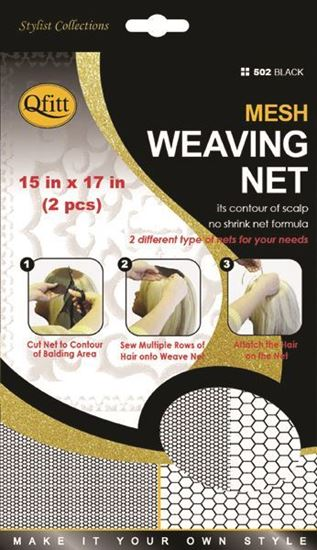 Qfitt Make your Own Style Mesh Weaving Net - 502 Black - Beauty Empire