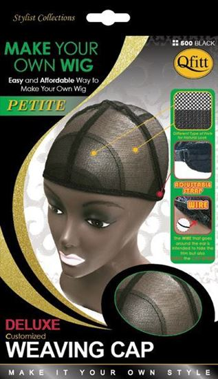 Qfitt Make Your Own Wig Petite Deluxe Customized Weaving Cap - 500 Black - Beauty Empire