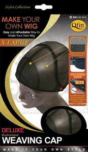Qfitt Make Your Own Wig X Large Deluxe Customized Weaving Cap - 551 Black