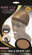 Qfitt Make Your Own Wig Sili Band Mesh Wig & Weave Cap - 5055 Brown - Beauty Empire