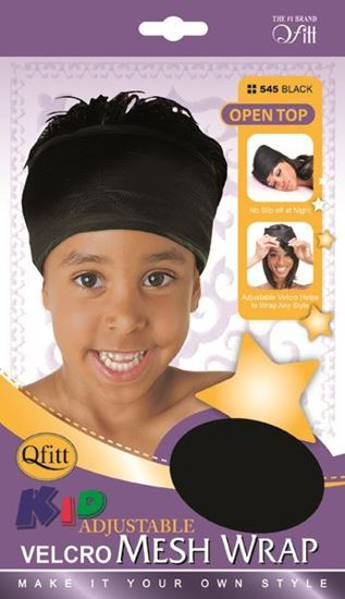 Qfitt Open Top Kid Adjustable Velcro Mesh Wrap - 545 Black - Beauty Empire