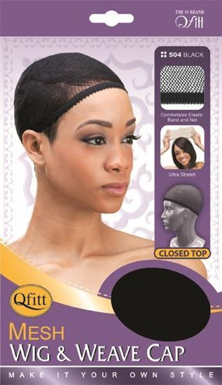 Qfitt Closed Top Mesh Wig & Weave Cap - 504 Black