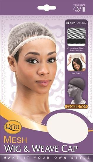 Qfitt Closed Top Mesh Wig & Weave Cap - 557 Natural