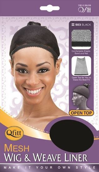 Qfitt Open Top Mesh Wig & Weave Liner - 503 Black - Beauty Empire