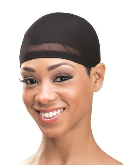 Qfitt Organic Argan & Shea Butter Treated + Olive Oil Scented Stocking Wig Cap - 800 Black
