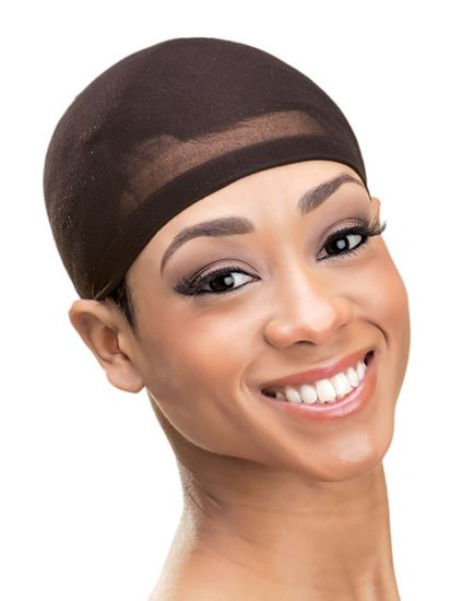 Qfitt Organic Argan & Shea Butter Treated + Olive Oil Scented Deluxe Stocking Wig Cap - 805 Brown