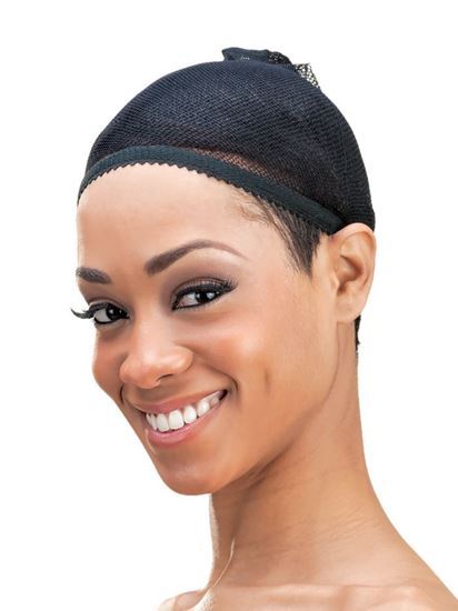 Qfitt Open Top Organic Argan & Shea Butter Treated + Olive Oil Scented Mesh Wig & Weave Liner - 842 Black - Beauty Empire