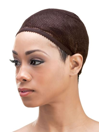 Qfitt Closed Top Organic Argan & Shea Butter Treated + Olive Oil Scented Mesh Wig & Weave Cap - 8431 Brown - Beauty Empire