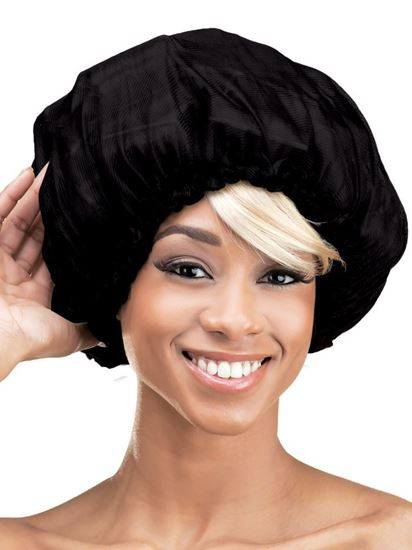 Qfitt X Large Satin Sleep Cap - 153 Black - Beauty Empire