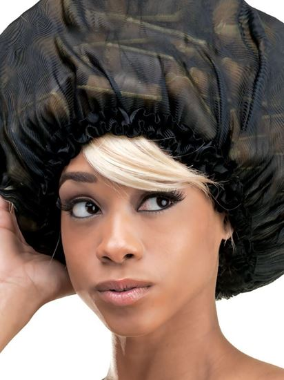 Qfitt Super Jumbo Satin Bonnet - 123 Black
