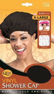 Qfitt X Large Vinyl Shower Cap - 184 Black - Beauty Empire