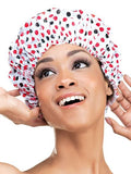 Qfitt Large Vinyl Shower Cap - 182 Dots
