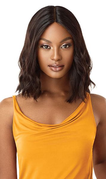 Outre The Daily Wig 100% Unprocessed Human Hair Lace Part Wig - Curly Blunt Cut Bob 14 Inches - Beauty Empire