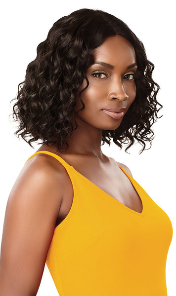 Outre The Daily Wig 100% Unprocessed Human Hair Lace Part Wig - Curly Bob 12 Inches - Beauty Empire