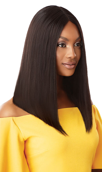 Outre The Daily Wig 100% Unprocessed Human Hair Lace Part Wig - Straight Blunt Cut Bob 16 Inches - Beauty Empire