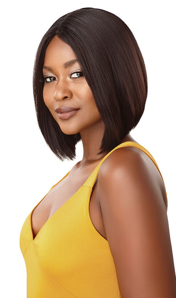 Outre The Daily Wig 100% Unprocessed Human Hair Lace Part Wig - Straight Bob - Beauty Empire