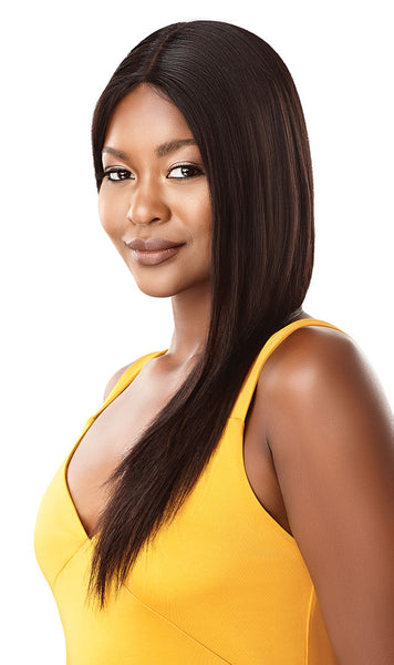 Outre The Daily Wig 100% Unprocessed Human Hair Lace Part Wig - Straight V Cut 22 Inches - Beauty Empire