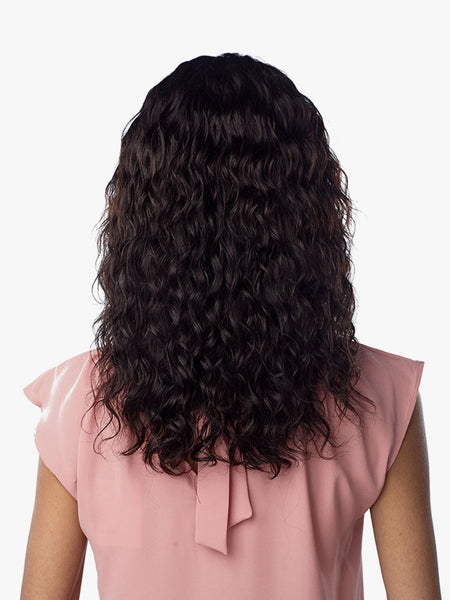 Sensationnel 10A 100% Virgin Human Hair Center Part Lace Front Wig - Natural Wave - Beauty Empire