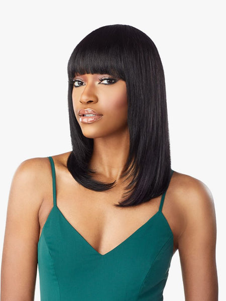 Sensationnel 10A 100% Unprocessed Human Hair Wig - Straight 18 Inches
