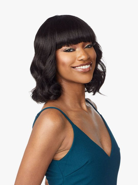 Sensationnel 10A 100% Unprocessed Human Hair Wig - Body Wave 12 Inches