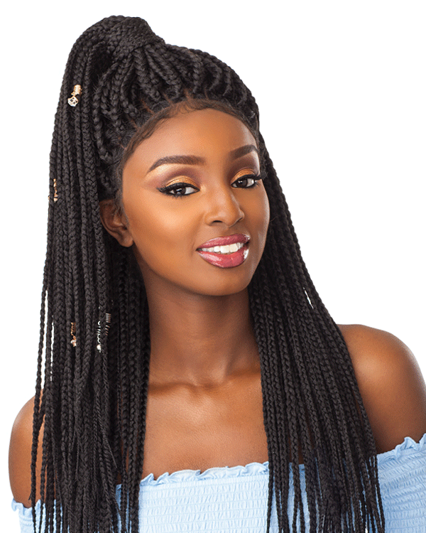 Sensationnel Cloud 9 4x4 Swiss Lace Front Wig - Box Braid Large
