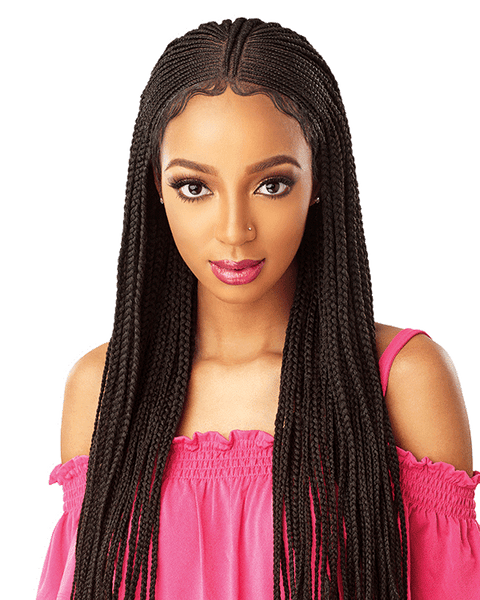 Sensationnel Cloud 9 13X5 100% Hand-Braided Swiss Lace Wig - Fulani Cornrow - Beauty Empire