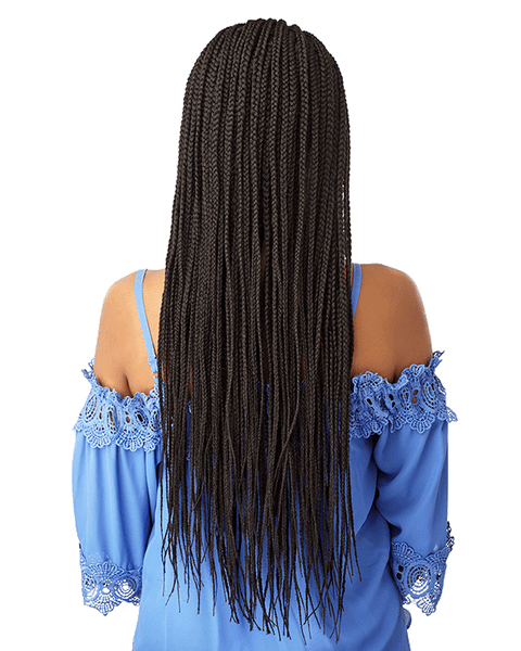 Sensationnel Cloud 9 13X5 100% Hand-Braided Swiss Lace Wig - Side Part Cornrow