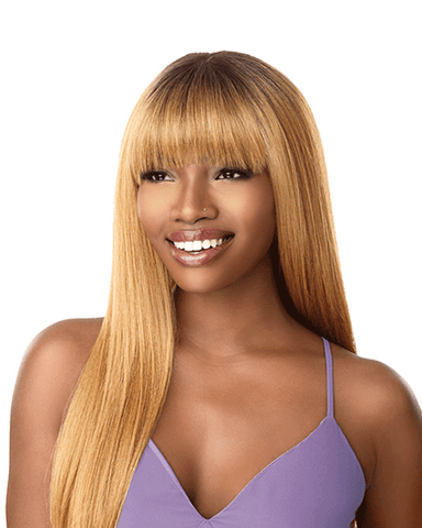 "Sensationnel Cloud 9 Fringe Frame 4""x4"" Swiss Lace Front Wig - Terri"