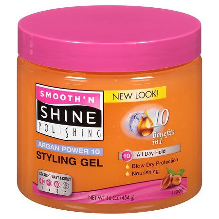 Smooth' N Shine Argan Power 10 Styling Gel - Beauty Empire