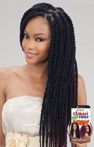 Freetress Equal Synthetic Hair Braids Double Strand Style Cuban Twist 16 Inches - Beauty EmpireShake N Go - 1