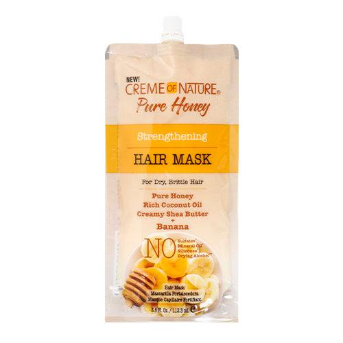 Creme Of Nature Pure Honey Strengthening Hair Mask - Banana 3.8oz