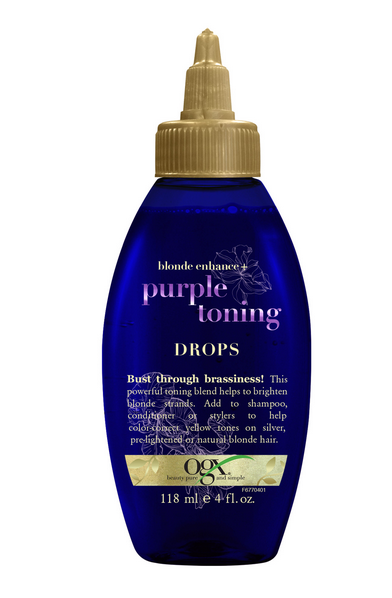OGX Blonde Enhance + Purple Toning Drops - 4oz