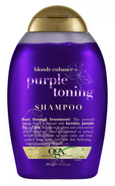 OGX Blonde Enhance + Purple Toning Shampoo - 13oz