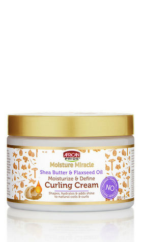 African Pride Moisture Miracle Shea Butter & Flaxseed Oil Moisture & Define Curling Cream - 12oz - Beauty Empire
