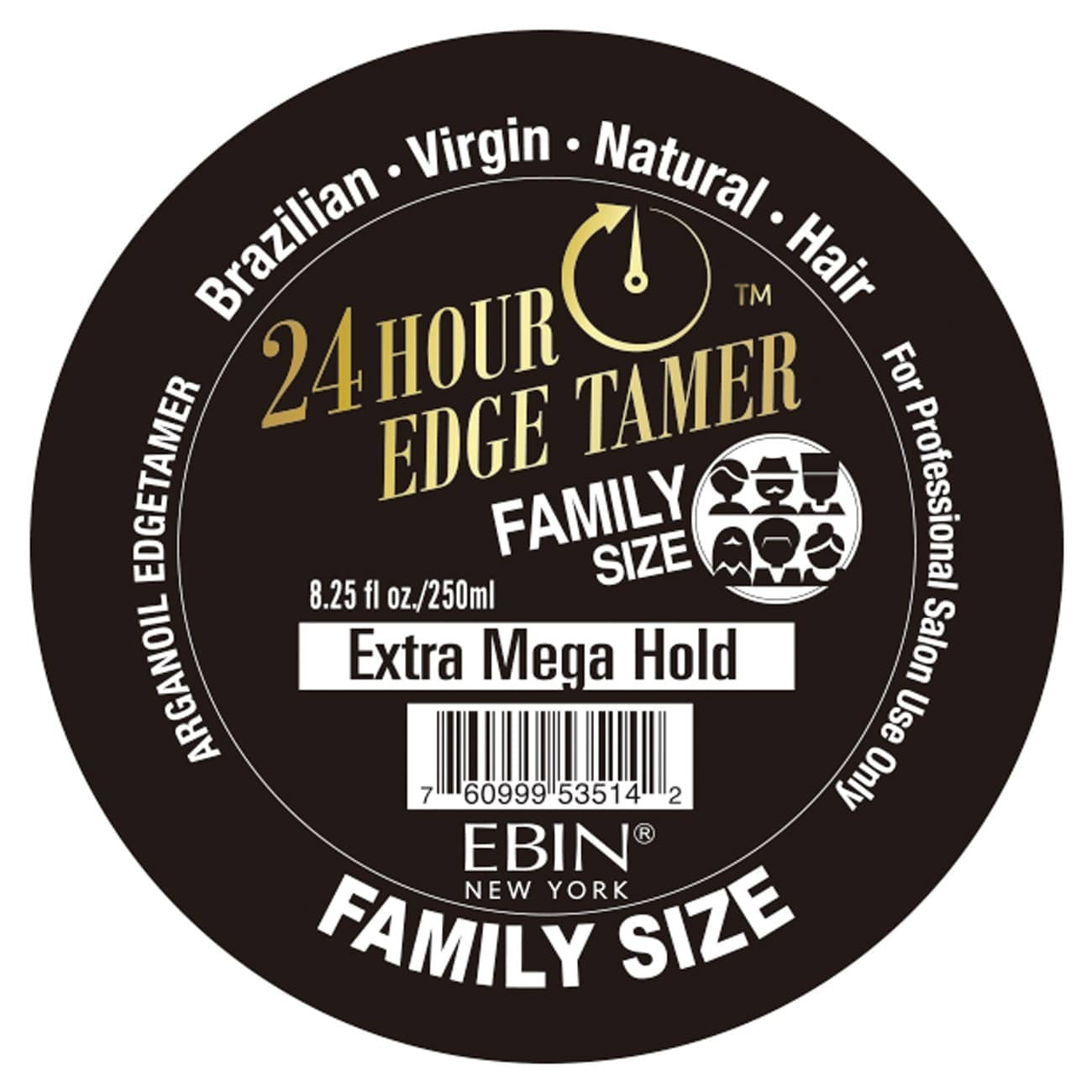 EBIN New York Argan Oil Edge Tamer Extra Mega Hold (Edge Control) 8.25 Oz - Beauty Empire