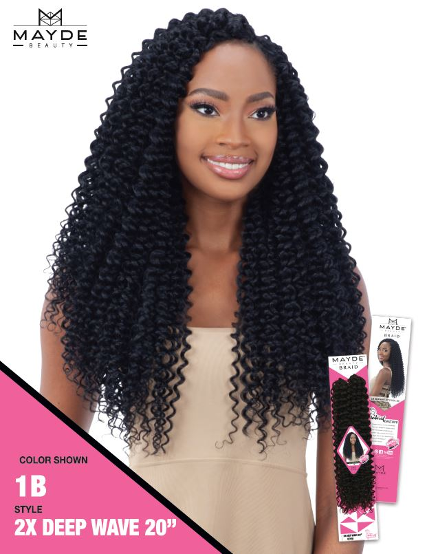 Mayde Beauty Crochet Braid 2x Deep Wave 20 Inches Beauty Empire