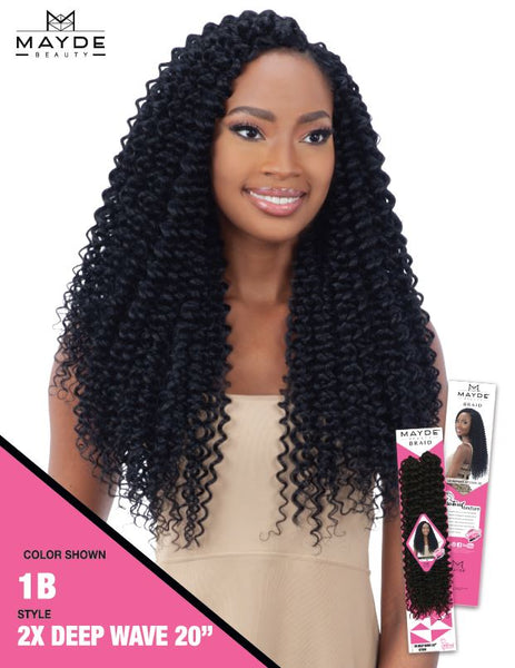 Mayde Beauty Crochet Braid 2X Deep Wave 20 Inches - Beauty Empire