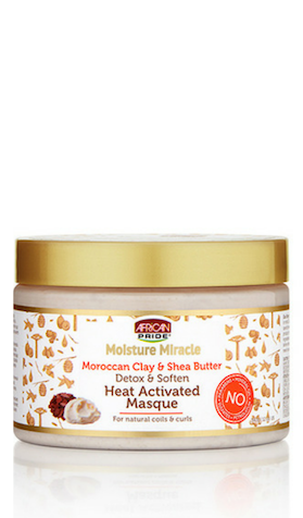 African Pride Moisture Miracle Moroccan Clay & Shea Butter Detox & Soften Heat Activated Masque - 12oz - Beauty Empire