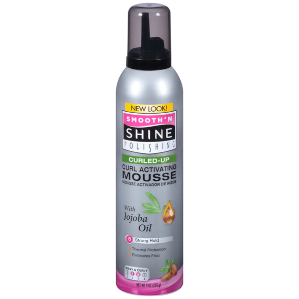 Smooth' N Shine Curled-Up Curl Activating Mousse 8 Strong Hold (9 oz) - Beauty Empire