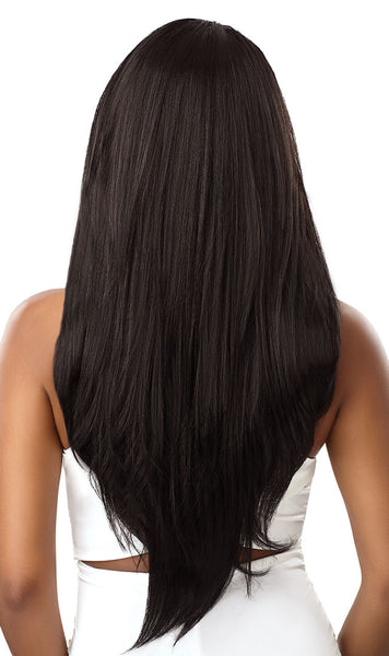 Outre &Play Human Hair Blend 360 Lace Front Wig - Natural Straight - Beauty Empire