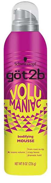 Got2b Volu Maniac Bodifying Mousse - Insane Volume 8oz
