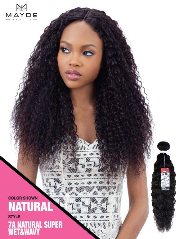 Mayde 7A Super Wet & Wavy 100% Human Hair