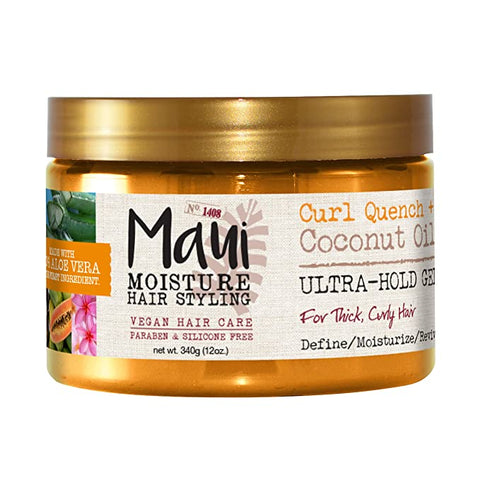 Maui Moisture Curl Quench + Coconut Oil Ultra-Hold Gel - 12oz