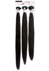 Ali Brazilian Bundle 3 Piece 7A - Straight (Natural Black) - Beauty Empire