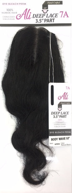 "Ali 7A 100% Unprocessed 3.5"" Deep Lace Part Closure - Body Wave - Beauty Empire"
