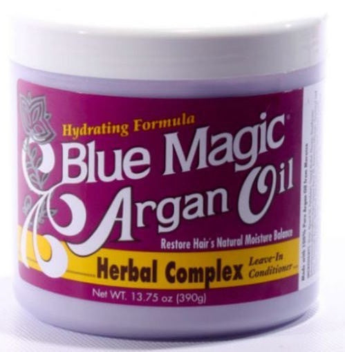 Blue Magic Argan Oil Herbal Complex Leave-In Conditioner (13.75 Oz) - Beauty Empire