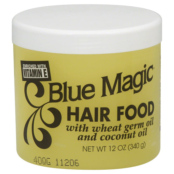 Blue Magic Hair Food with Wheat Germ Oil & Coconut Oil (12 Oz) - Beauty Empire